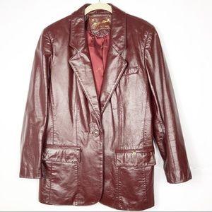 Etienne Aligner | Vintage Burgundy Leather Jacket